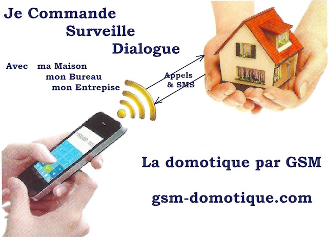 Domotique Iphone Android Smartphone SMS