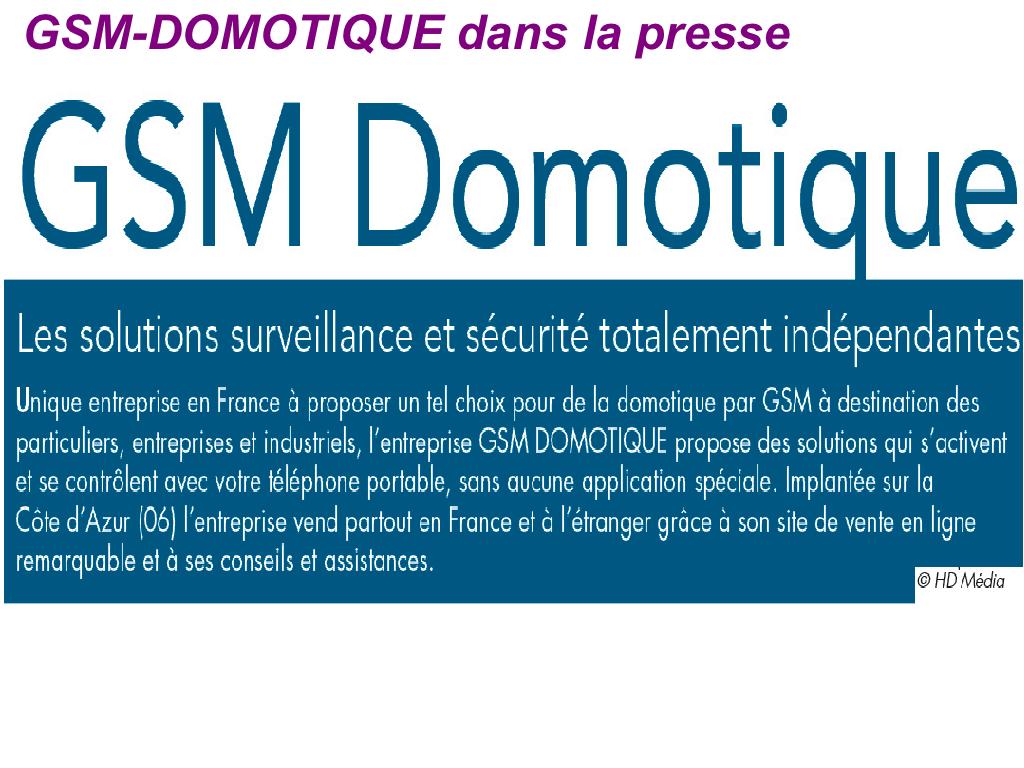 Domotique commandes surveillances avec son portable